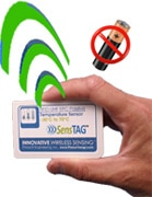 UHF RFID sensor - credit card sized