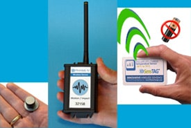Wireless data logger, wireless industrial sensor, SensTag battery-free rfid wireless temperature sensor