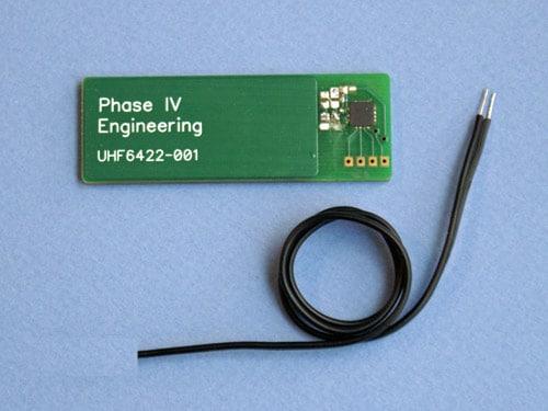 Voltage And Temperature Sensor Rfid Uhf Epc Battery Free