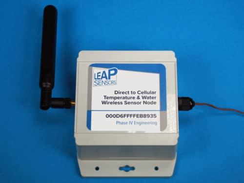 wireless sensors direct to cellular transceiver node leap sensors