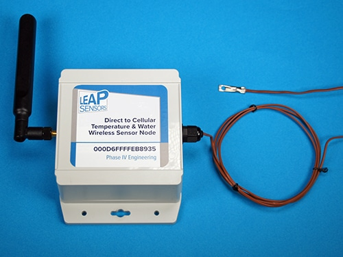 wireless temperature sensor thermocouple direct to cellular transceiver node leap sensors